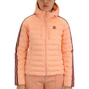 Details zu adidas Originals Monogram Slim Winterjacke Übergangsjacke Damen Pink ED4739