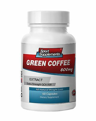 Green Coffee Bean Extract GCA 800mg.,Weight Loss (1 Bottle ...