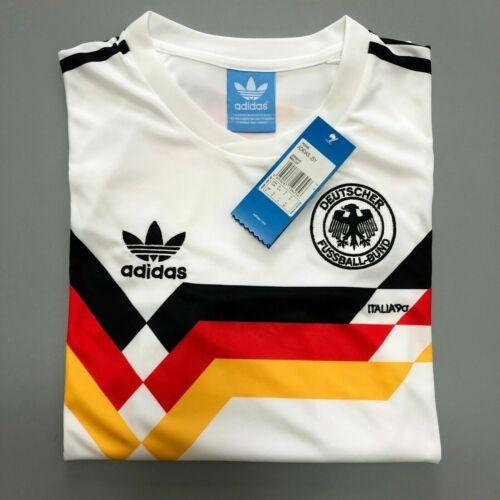 Retro Jersey Germania Ovest 1990 Camicia cimeli football shirt UK Venditore