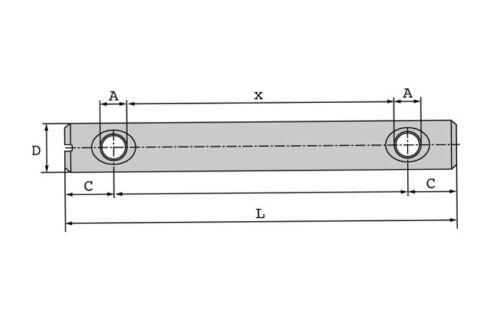 10er Packung Quermutterbolzen oder Doppelquermuttern in verschiedenen Größen
