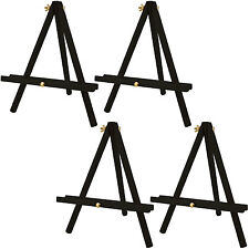 "12"" Tall Tripod Artist Display Tabletop Easel BLACK Pine Wood Pack of 4 Easels"