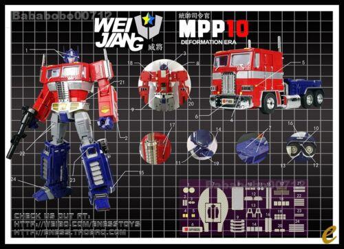 DETAILS STICKER SET FOR WEIJIANG MPP10 Optimus Prime NEW