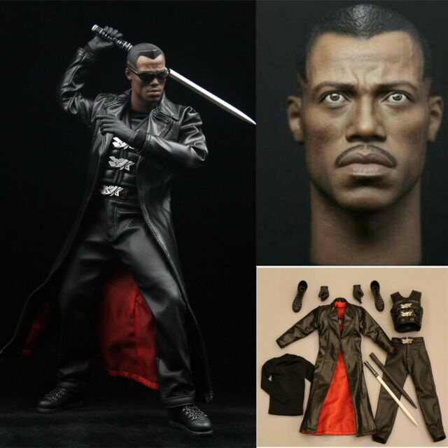 """1//6 Scale Blade Warrior Wesley Snipes head model fit 12/"""" Male body Model Toy"""