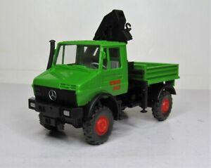 Wiking-1-87-Mercedes-Benz-Unimog-1650-con-ladekran-OVP-647-01-wimo-construccion