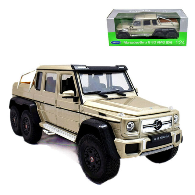 Mercedes 6X6 For Sale >> Welly 1 24 Mercedes Benz G63 Amg 6x6 Diecast Metal Model Car Gold