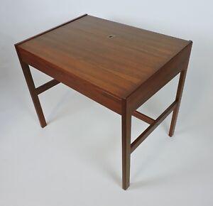 Arne Wahl Iversen Danish Modern Teak Desk Or Vanity Table Model 82