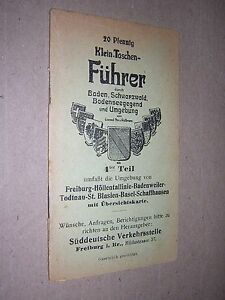 SMALL-GERMAN-POCKET-GUIDE-BOOK-FREIBURG-etc-circa-1915-DELICATE