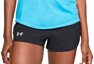 Under Armour Fly By Mini Womens Running Shorts - Black Ein GefüHl Der Leichtigkeit Und Energie Erzeugen