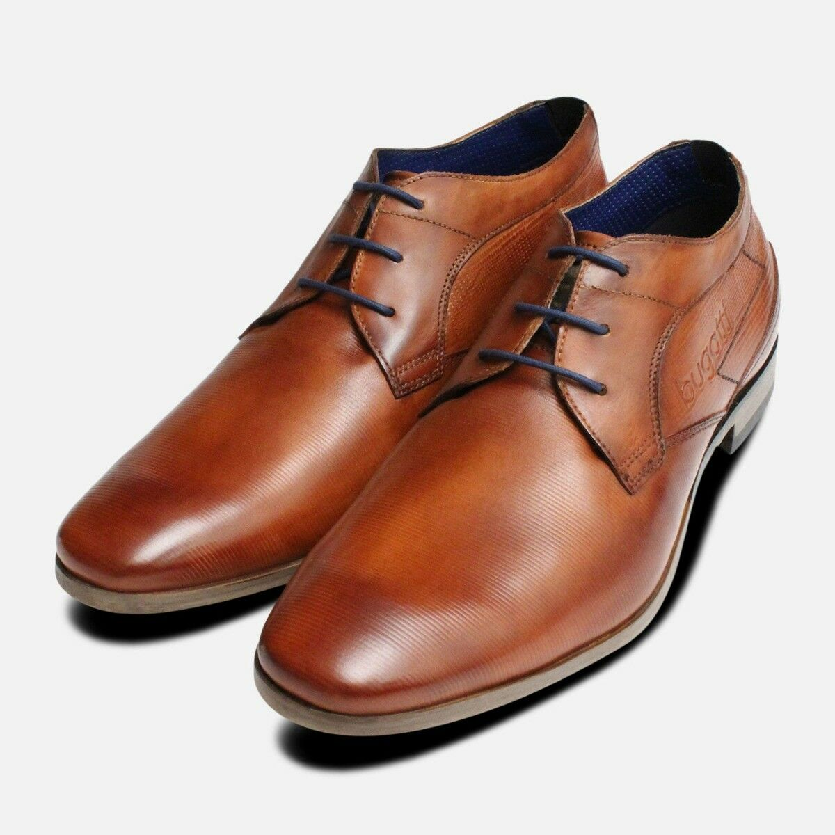 New Designer Lace Up Shoes in Tan by Bugatti