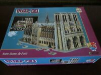Puzz 3d Notre-dame De Paris Cathedral Dimensional Puzzle 952 Pieces Catholic