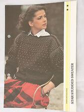 Knitting Pattern Ladies Star Studded Sweater Jumper