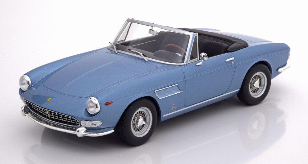 KK SCALE MODELS 1964 Ferrari 275 GTS Pininfarina Spyder w spoke rims Blau 1 18