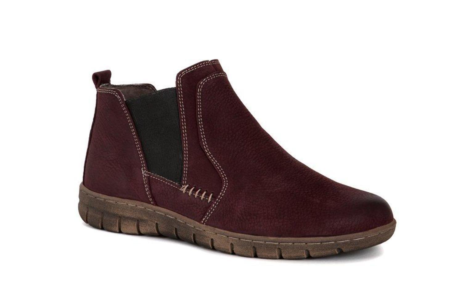 Josef Seibel Steffi 49 Bordo rot Nubuck Leather Stiefel