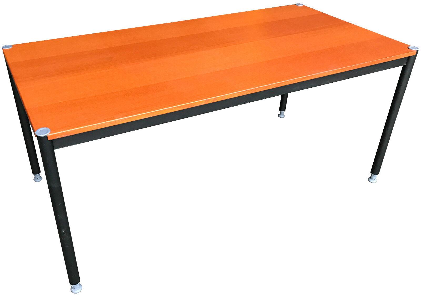 IKEA effektiv Schreibtisch Goldbraun/silber 160x80cm | eBay