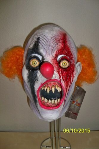 ADULT CREEPY THE CLOWN MUTANT EVIL SCARY TEETH FULL LATEX MASK COSTUME TB26501
