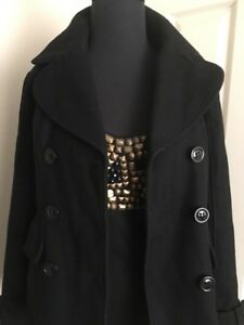S Lined Double Guess Fully Blend Coat Ny uld Black Breasted HnnRTfzq