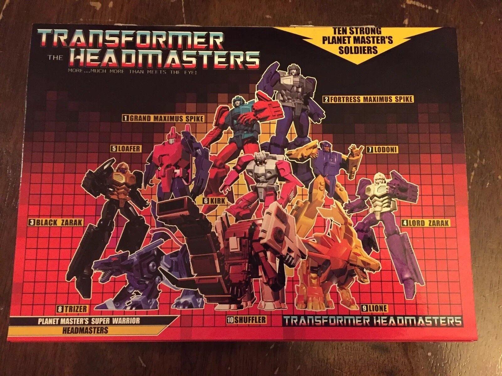 Transformers the Headmasters  Planet Master's Super Warrior Headmasters New