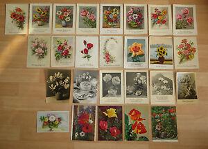 26 Nostalgische Postkarten Brd Geburtstag Gluckwunsch Blumen