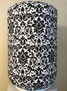 BLACK-AND-WHITE-DAMASK-5-GALLON-WATER-COOLER-BOTTLE-COVER-KITCHEN-DECORATION