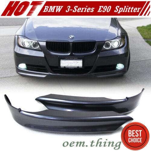 Painted Color #A22 BMW 3-Series E90 4DR Front Bumper Lip Splitter 335i 320i