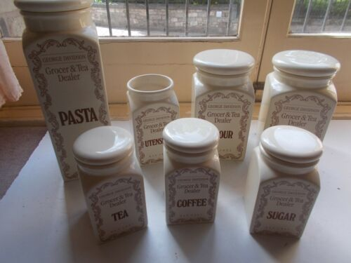 """Probus Quality Ceramic Kitchen Storage Canisters Various   /"""" George Davidson/"""""""