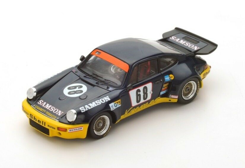 Porsche 911 voiturerera RSR  68 Heyer-Keller  Le  Mans  1974 (Spark 1 43   S5087)  qualité authentique