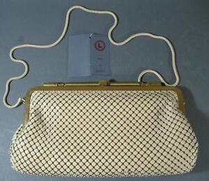 Image Is Loading Retro Vintage 60s 70s Cream Gold Lifinia Handbag
