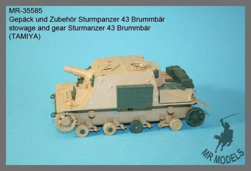 1 35th MR Models German Sturmpanzer 43 Brummbär stowage and gear