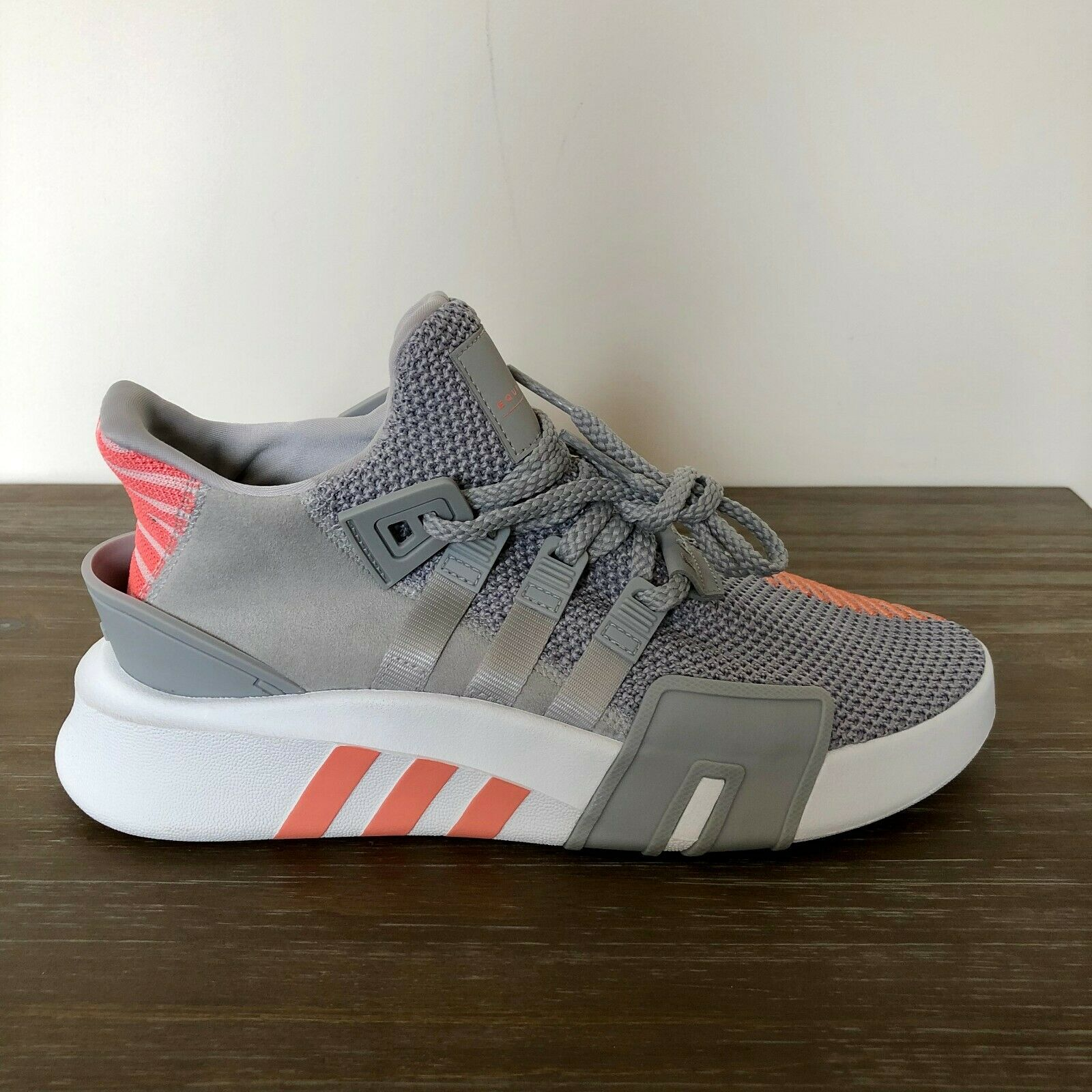 ADIDAS ORIGINALS EQT BASKETBALL ADV GREY WHITE CORAL AC7351 WOMEN'S SIZE  8