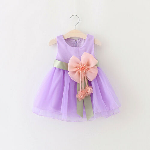 Cute Toddler Kids Dress Baby Girls Floral Casual Summer Casual Sundress Clothes