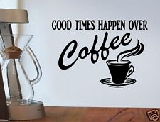 A1114 COFFEE KITCHEN DECAL STICKER CAFE WALL EXPRESSO LATTE