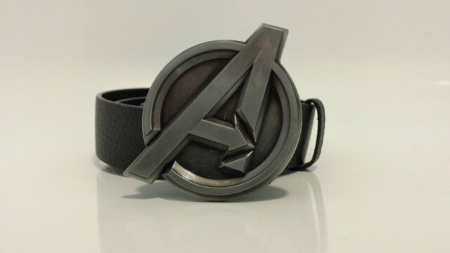 The Avengers Belt Buckle Marvel   With Optional Snap On Belt   Nickle