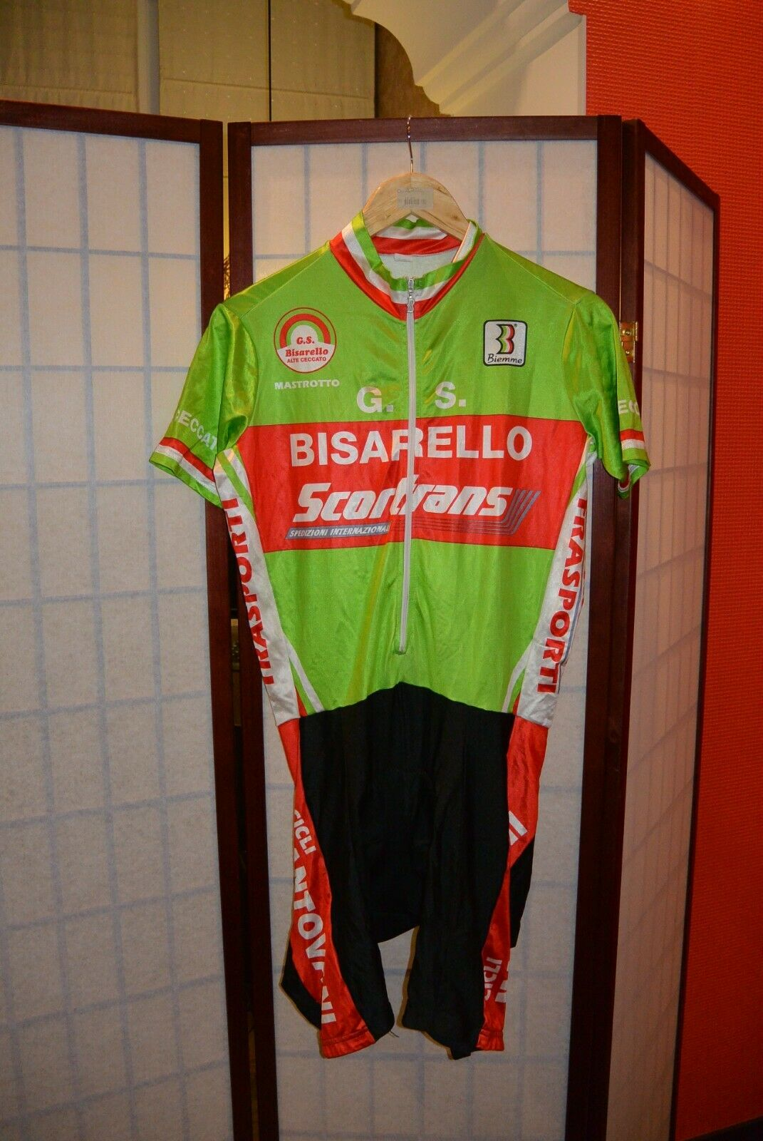 Bisarello G.S Scortrans Biemme cycling skinsuit speedsuit L