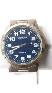 Watch It Quartz Stainless Steel Back Base Metal Bezel Fashion Wrist Watch