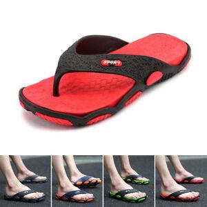 Neuf-Ete-Hommes-Sandales-Tongs-Plage-Tongs-Decontracte-Chaussures-Plates-Ca