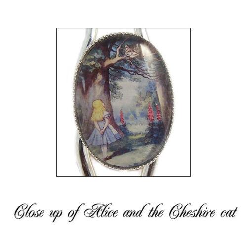 Alicia en el país de las maravillas Pulsera Brazalete de Gato de Cheshire estamos todos locos plata encanto