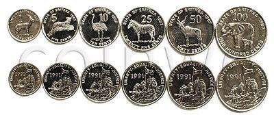 ERITREA 6 COINS SET 1997 ANIMALS UNC (#885)