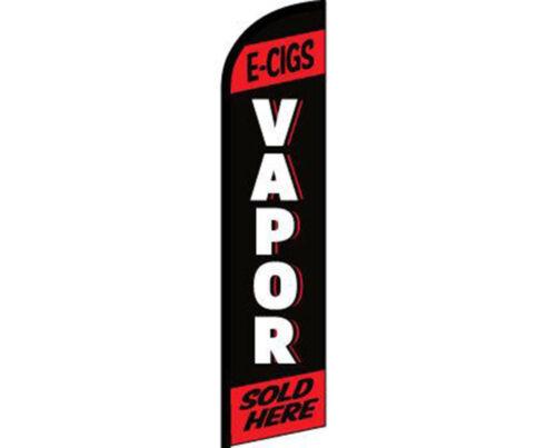 E-Cigs Vapor Sold Here Black Red Windless Banner Advertising Marketing Flag