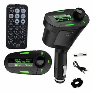 Reproductor transmisor mp3 FM in car mechero coche radio SD usb Led volumen nuev