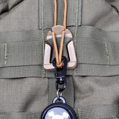10x Molle Webbing Taktisch Kabel Klemmen Schnalle Elastisch Festbinden w