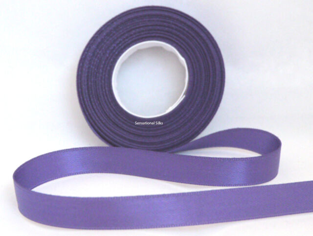 GREAT VALUE! 20M LONG 6MM ELEGANZA DOUBLE FACED SATIN RIBBON IN 30 COLOURS