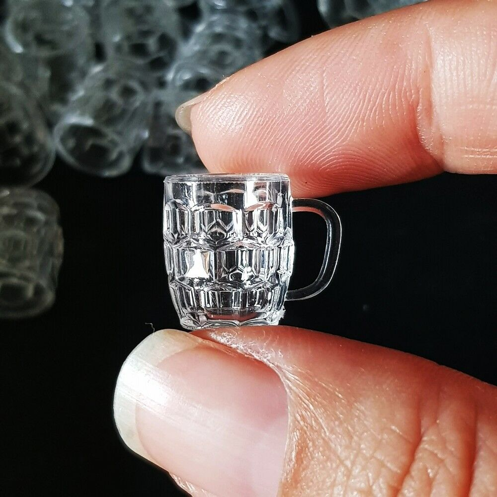 50x Clear Beer Acrylic Glass Cup Dollhouse Miniature Barbie Supply Wholesale Lot