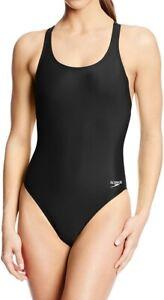 Speedo-Womens-Black-Size-6-32-One-Piece-Super-ProLT-Racerback-Swimsuit-39-312