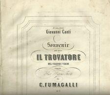 Souvenir dell'Opera IL TROVATORE del celebre Verdi. Edizione Gio. Canti 1870