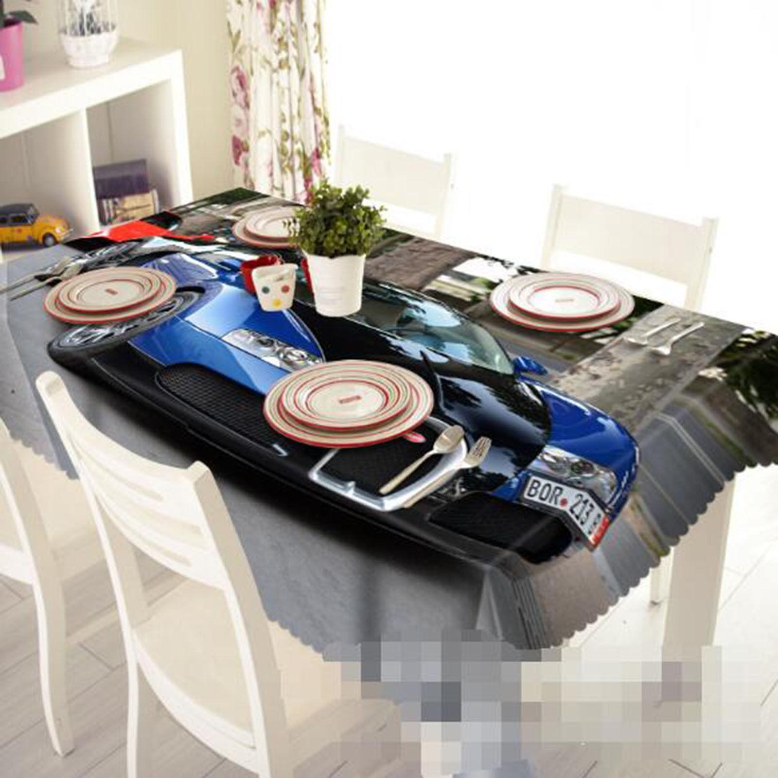3D bleu Car 024 Tablecloth Table Cover Cloth Birthday Party Event AJ Lemon