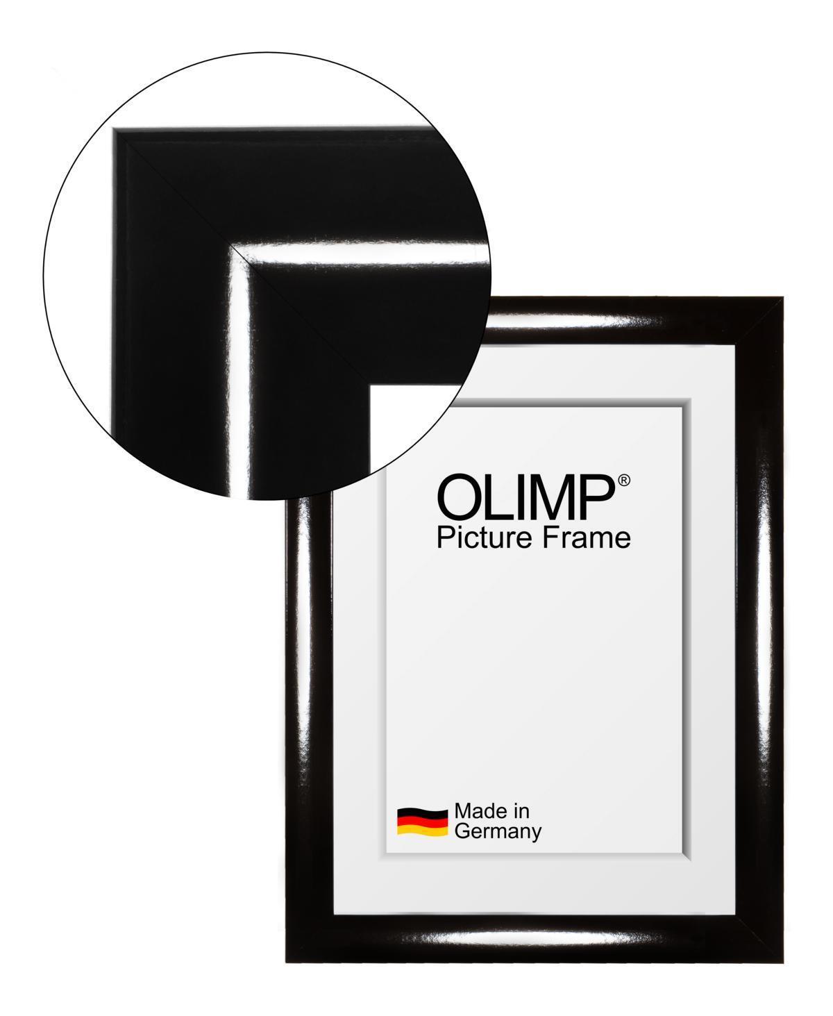 Cornici Entspiegeltem Olimp Nero Lucido con Entspiegeltem Cornici Vetro Acrilico 10x20-150x100cm 5f63af
