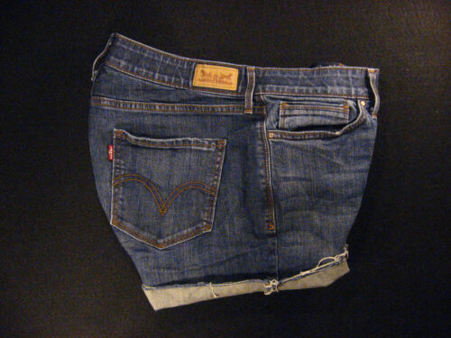 Cut Levis Duke 32 W Off Red Cutoff 525 Daisy Tab Denim Jeans Shorts rqnwUI6q
