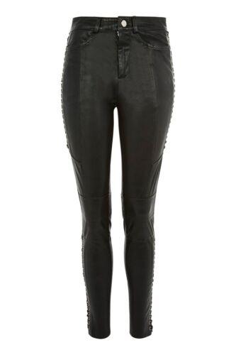Skinny Bukser 8 Topshop Sz Ny Lamb Up Leather 100 Lace Real 560 Bukser Biker q8tRpw8