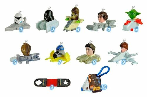 Complete collectible 11 figures set STAR WARS 2016 from Kinder Surprise eggs