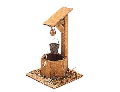Brunnen H=9cm Holz-Bastelset Bausatz zu Krippe Krippenzubehör Krippendeko 12552